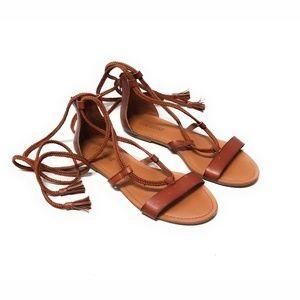 LANE BRYANT Lace Up Gladiator Sandals Size 11